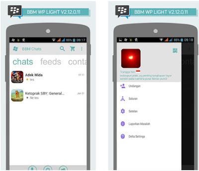 BBM Windows Phone Light V2.12.0.11 Apk