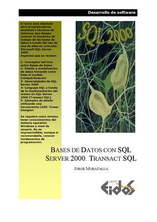 Bases de Datos con SQL Server 2000: Transact SQL – EIDOS