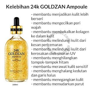 Kelebihan 24k Goldzan Ampoule