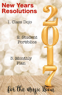 New Year's Resolutions for the Music Room: Thoughts about Class Dojo, the SeeSaw App, and a monthly planning freebie!