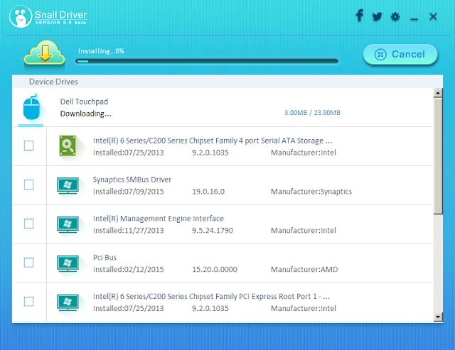 تحديث وتنزيل تعريفات الكمبيوتر بنقرة زر واحدة مع برنامج SnailDriver