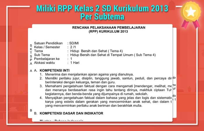RPP Kelas 2 SD Kurikulum 2013