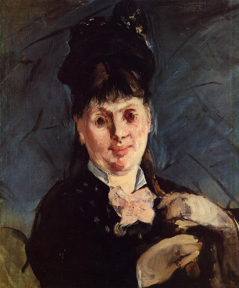 Umbrella Woman Painting Renoir