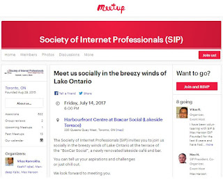 Society of Internet Professionals: Meetup, July 14, 2017