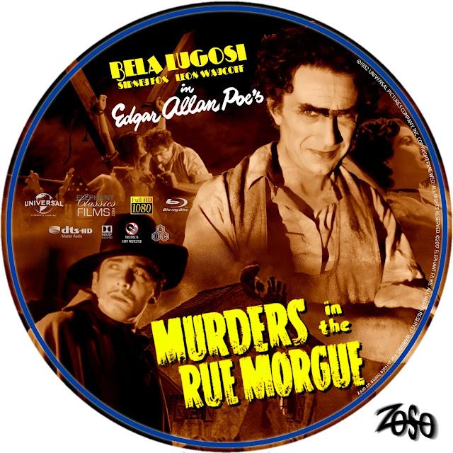 Murders In The Rue Morgue Bluray Label
