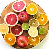 naranja, limón arándanos frutas cítricas para la memoria