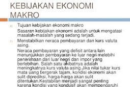 Kebijakan Ekonomi Makro