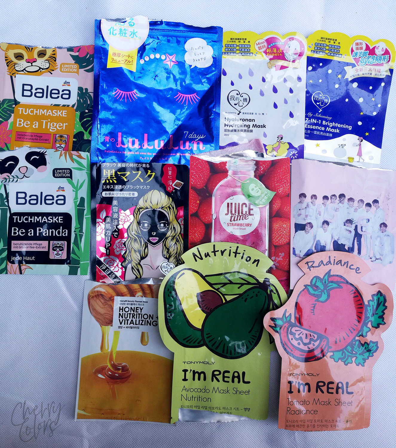 used up sheet masks