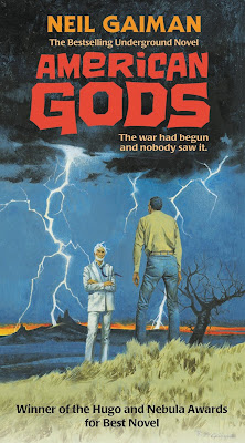 Robert McGinnis Book Cover for Neil Gaiman's American Gods.