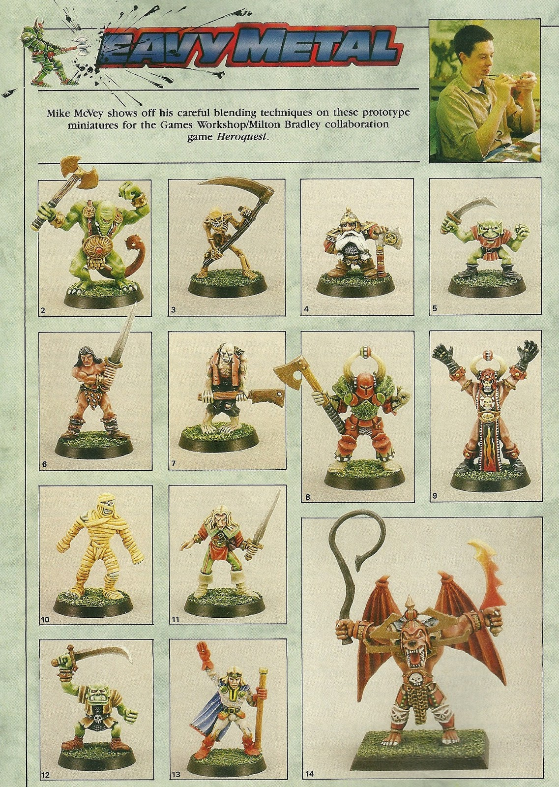 Back in the 80's, we would stare at White Dwarf pages like these for hours, trying to figure out how the artists achieved various effects.