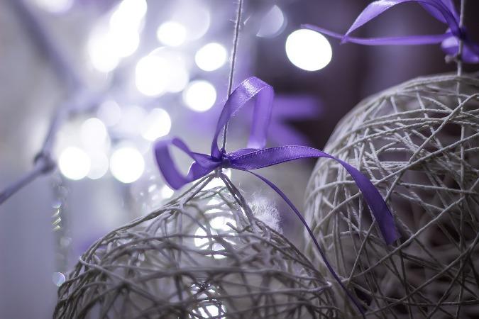 Bolas de navidad - bolas de hilo diy