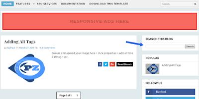 inserting blogger widgets