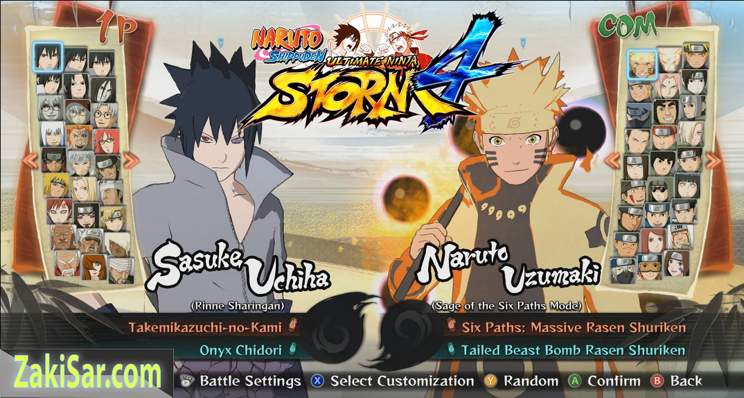 game ppsspp android naruto ultimate ninja impact