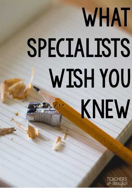 What Specialists Wish You Knew! You leave your kids in Music or Art or PE or Drama or STEM and there are so many things those teachers wish you knew. Great post from a former classroom teacher that is now a specialist!