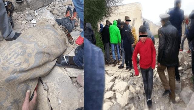 وفاة تلميذين انهيار سور