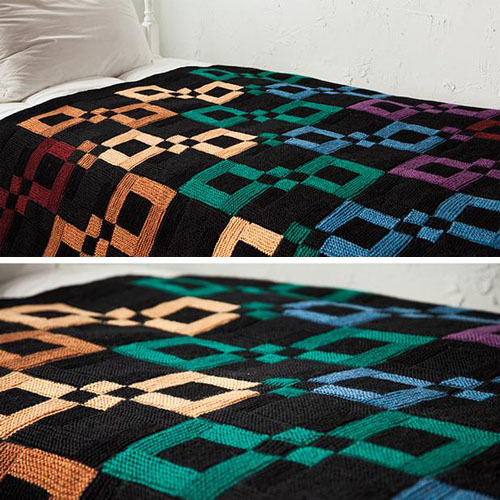 Infinite Rainbow Throw - Free Pattern