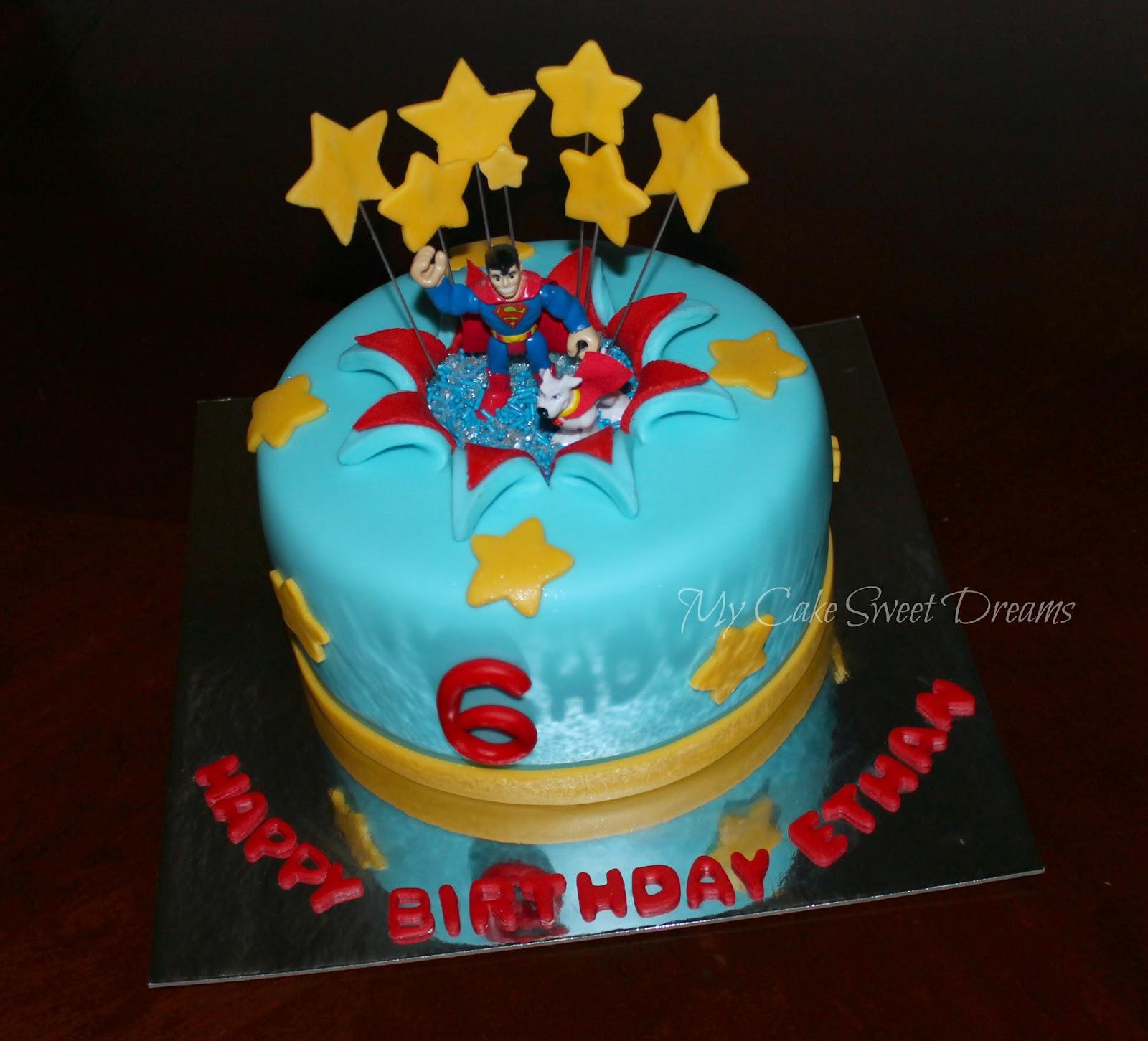 My Cake Sweet Dreams Superman Birthday Cake