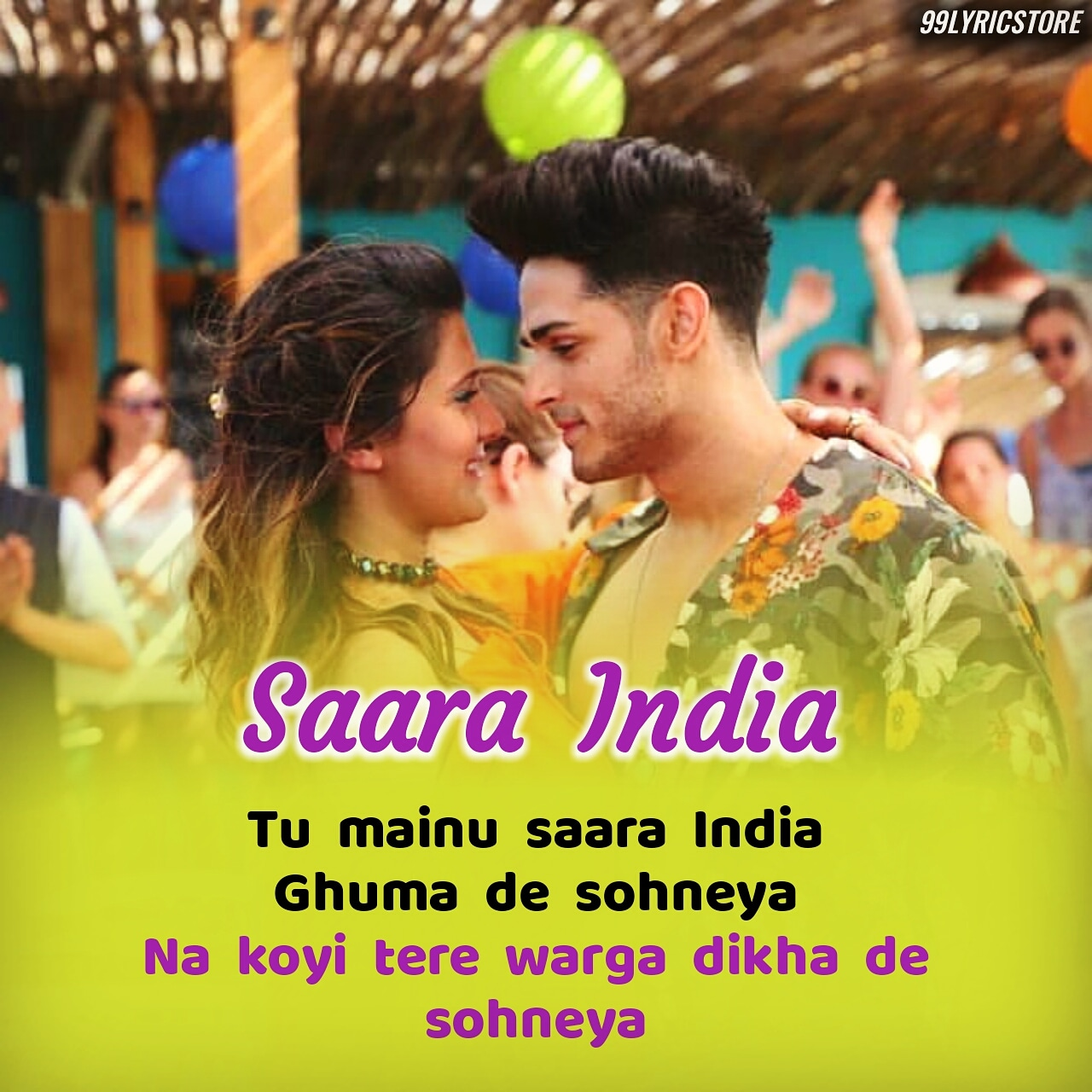 Saara India Punjabi Song Lyrics Sung By Aastha Gill Feat. Priyank Sharma