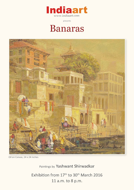 Banaras show at Indiaart Gallery, paintings by Yashwant Shirwadkar