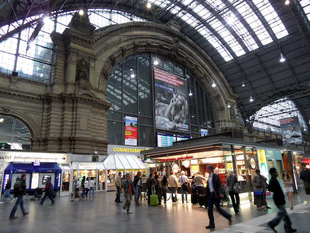 Estação de trem em Frankfurt