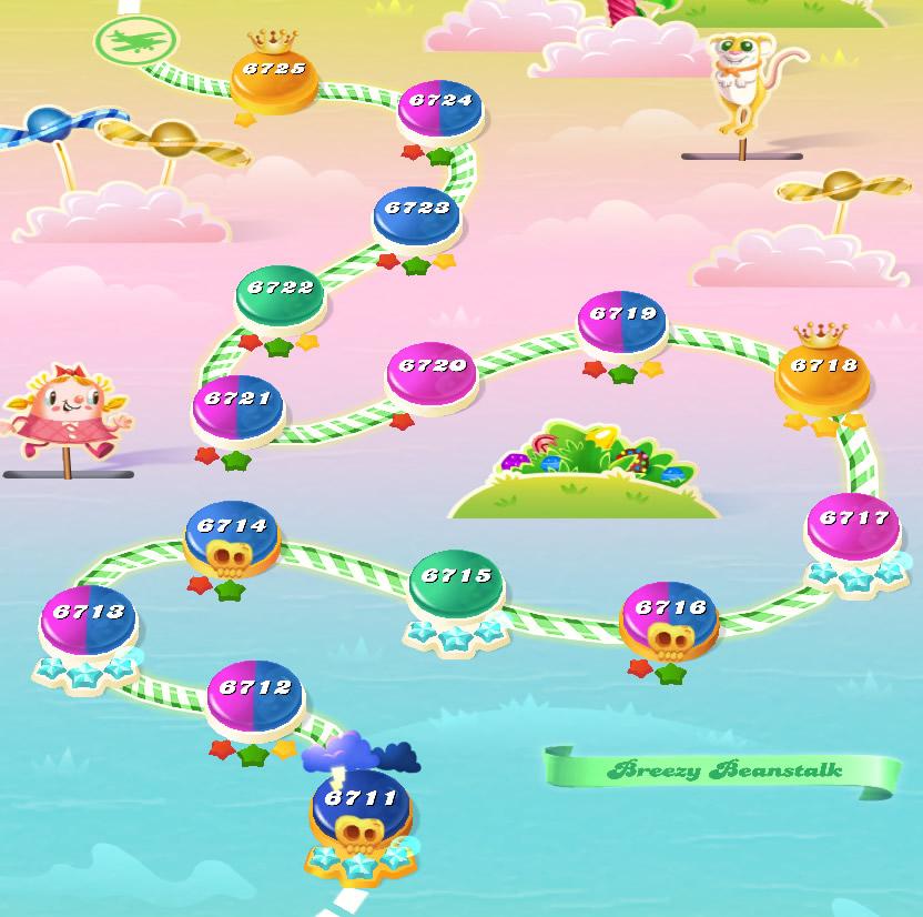 Candy Crush Saga level 6711-6725