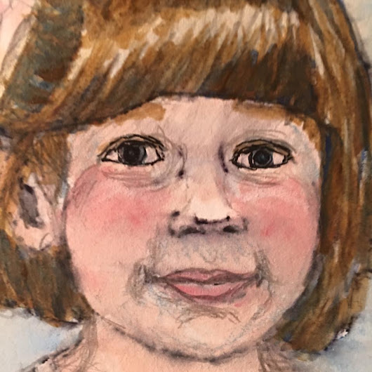 tales from the little pink house: new portraits painting process