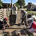 Prosigue la construcción de veredas comunitarias en diferentes barrios