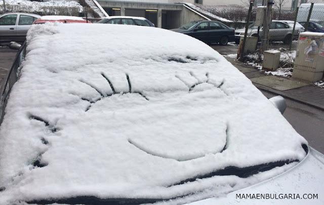 Coche nieve Bulgaria