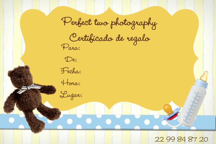 Perfect Two Photography Certificados de regalo