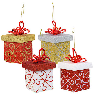 Christmas House Glittery Gift Ornaments