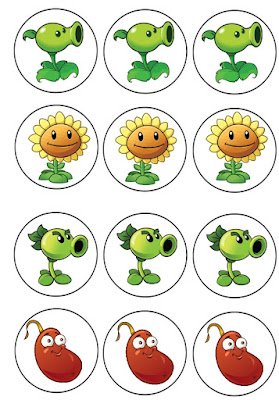 Plants vs Zombies free birthday printables