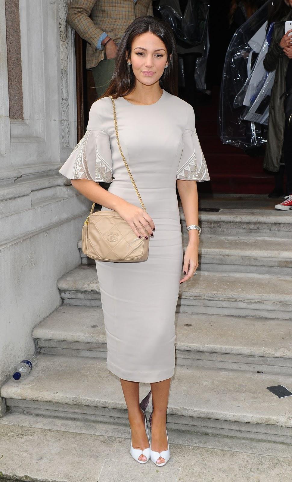 HD Photos of Michelle Keegan At Julien Macdonald Fashion Show In London