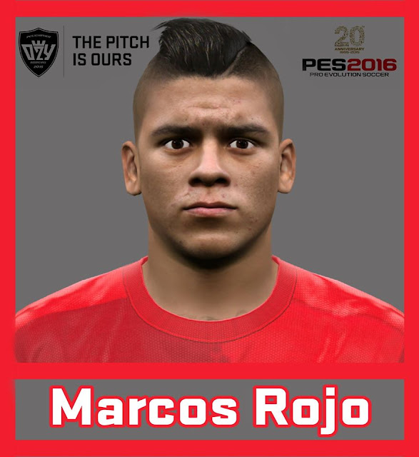 [PES16/17] Marcos Rojo (Manchester United F.C) Face by Ozy_96 PESMOD