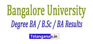 Bangalore University Degree BA / B.Sc / BA Results 2017