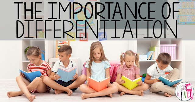 Ideas by Jivey reviews the importance of why we should differentiate for our students during reading instruction.