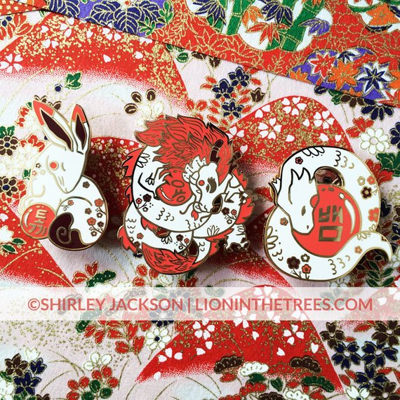 Lion in the Trees's enamel pin Chinese zodiac