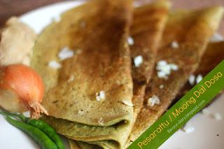 Pesarattu Green Moong Dal Dosa Recipe
