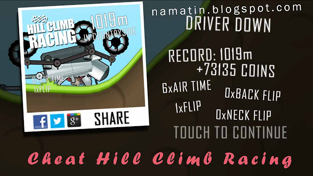 Cheat Hill Climb Racing 2 Milyar Koin