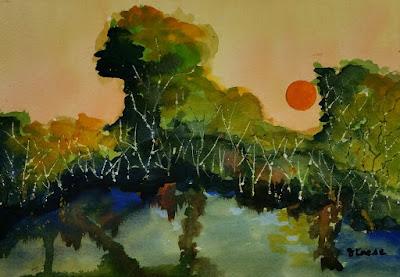 Loose Landscape Watercolor - John Keese