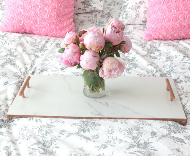 rose gold tray diy