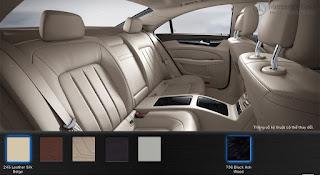 Nội thất Mercedes CLS 500 4MATIC 2015 màu Vàng Silk 245