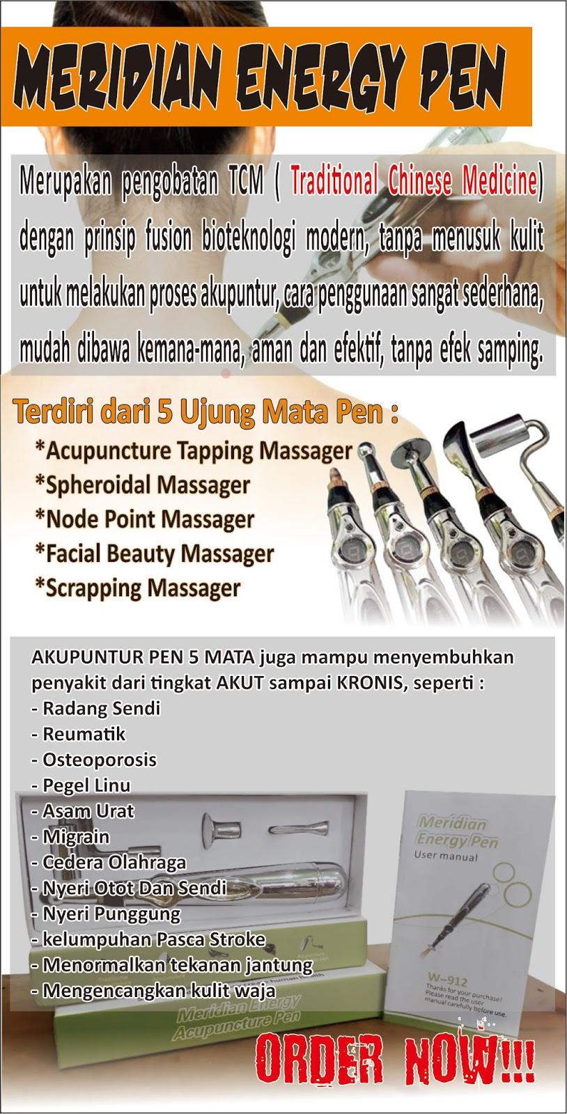 Hand Accupuncture Plus Terapi Box Koper Pen Akupuntur Software Brosur