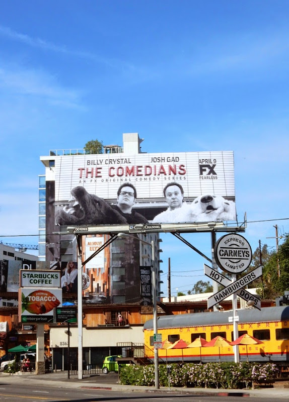 Comedians series premiere FX billboard