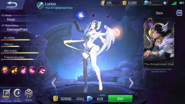 Skill Lunox mobile legend