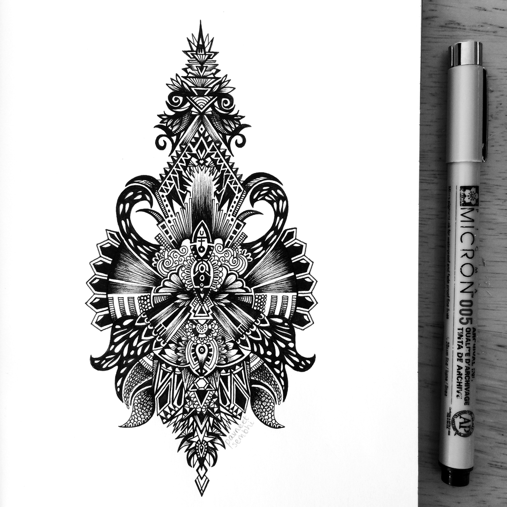 02-Dreamy-Pavneet-SembhiSelf-taught-Artist-Creates-Intricate-and-Detailed-Drawings-www-designstack-co