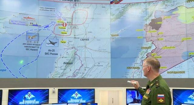 """الدفاع الروسية: ستكشف غداً تفاصيل إسقاط طائرة """"إيل-20"""" في سوريا."""