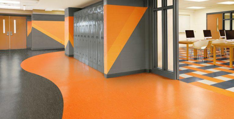 مدونة العمارة والفن مشمع الأرضيات اللينوليوم Linoleum