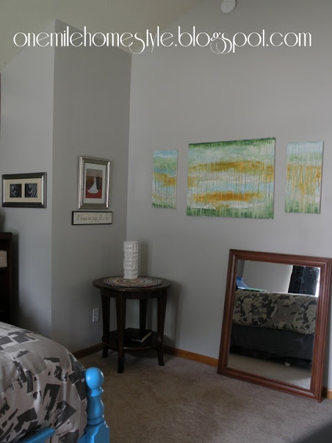 Light gray walls in bedroom