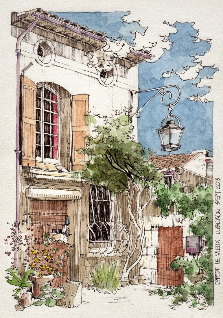16-Oppède-Le-Vieux-1-Jorge-Royan-Drawings-Sketches-of-Travel-Logs-www-designstack-co