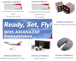 Asia giveaways and sweepstakes